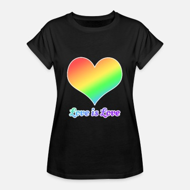 Gay Love LGBT - Gay - Gay - Love is Love - Women's Oversize T-Shirt