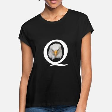 Q QAnon Shirt Q Anon Eagle Grand Réveil USA - T-shirt oversize Femme