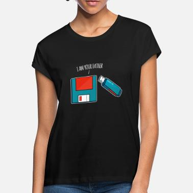 Usb I Am Your Father USB Drive Floppy Disk Old Computer - Women's Loose Fit T-Shirt