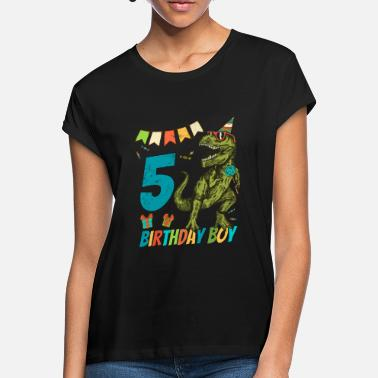 Childrens Birthday Party 5 Year Olds Childrens Birthday Boy Party - Women's Loose Fit T-Shirt