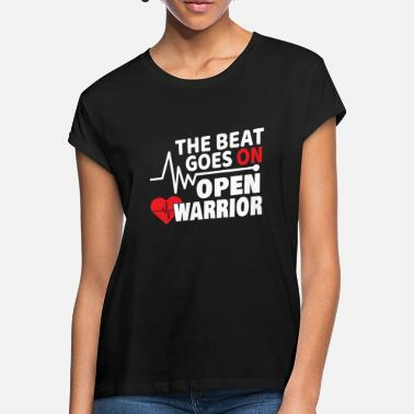 The Beat Goes On The Beat Goes On Herzanfall Schlaganfall Geschenk - Frauen Oversize T-Shirt