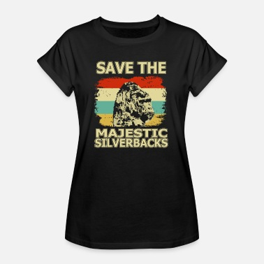 Menschenaffe Save the Majestic Silverbacks - Frauen Oversize T-Shirt