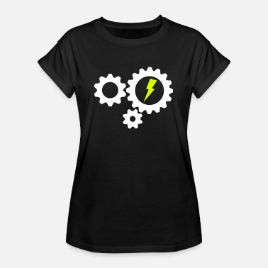 Bike Cog Gear cogs lightning - Women's Oversize T-Shirt