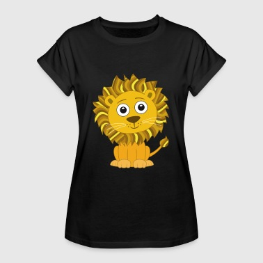 Funny Cartoon Lion cute funny cartoon - Women's Oversize T-Shirt