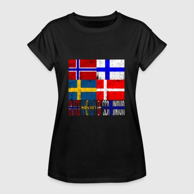 Norwegen Flaggen United Kingdom of Scandinavia - Frauen Oversize T-Shirt