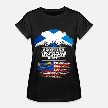 Scottish Roots Scottish Grown With Malaysian Roots - Women's Oversize T-Shirt
