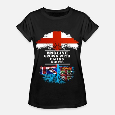Fijian English Grown With Fijian Roots - Women's Oversize T-Shirt