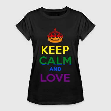 Keep Calm and Love - Rainbow - EN - Vrouwen oversize T-shirt