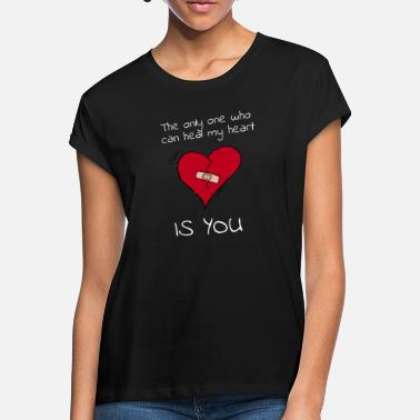 Heart Broken heart design as a gift for Valentine's Day - Women's Loose Fit T-Shirt