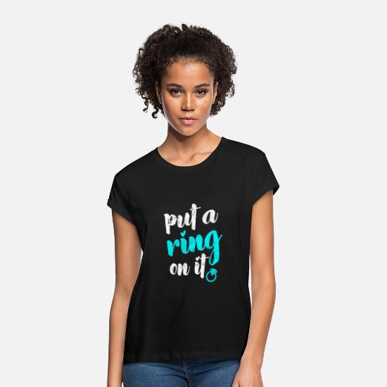 Wedding T-Shirts - Marry - Women's Loose Fit T-Shirt black