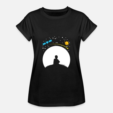 Kids Planet Astronomy ISS Gift Kids Moon Planet - Women's Oversize T-Shirt