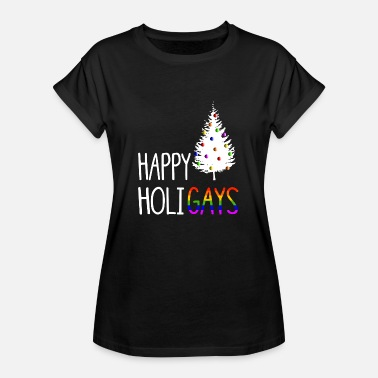 Lgbt Happy Holigays Christmas Christmas LGBT - Women's Oversize T-Shirt