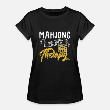 Mahjong Mahjong game as therapy gift idea plays - Women's Oversize T-Shirt