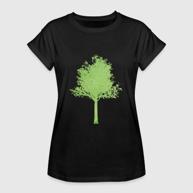 Oak Tree tree green gradient ombre - Women's Oversize T-Shirt