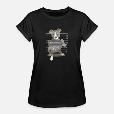 English Staffordshire Staffordshire Bull Terrier dog gift - Women's Oversize T-Shirt