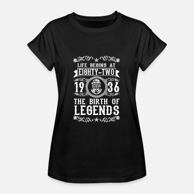 82 Birthday 1936 82 82. Birthday years Legends gift - Women's Oversize T-Shirt