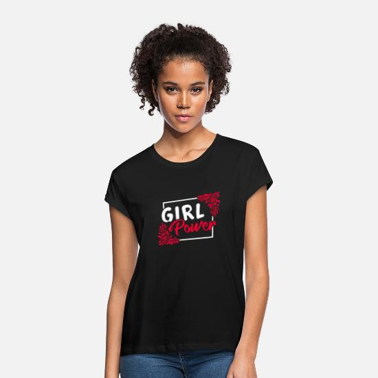 Strong T-Shirts - Girl power woman woman power gift idea - Women's Loose Fit T-Shirt black