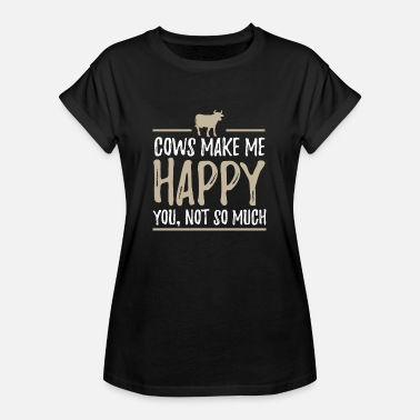Jordbruk Cow Happy Farm Farmer Animal Agriculture - Oversize-T-shirt dam