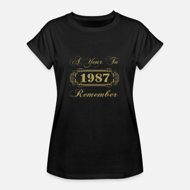 Year 1987 1987 A Year To Remember - Women's Oversize T-Shirt