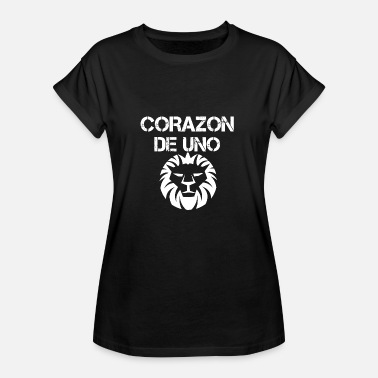 Corazon Heart of a lion (Corazon de uno Lio'n) - Women's Oversize T-Shirt