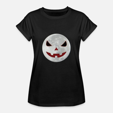 Moon with face for Halloween - Women's Oversize T-Shirt