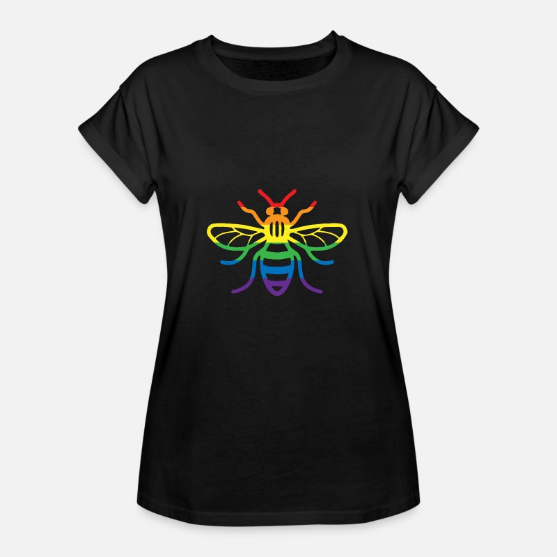 Gay T-Shirts - Gay Pride Bee - Women's Loose Fit T-Shirt black