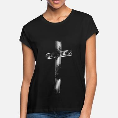 Cristiano Related To Christ Intrépido Jesús cruz - Camiseta holgada mujer