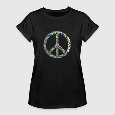 Peace Love hippie pasifist - Oversize T-skjorte for kvinner