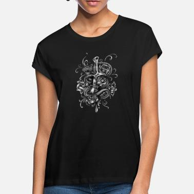 Snake Snake, dagger and roses - Women's Loose Fit T-Shirt