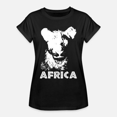 African Continent Africa Safari Lion Africa Vacation Trip Travel - Women's Oversize T-Shirt