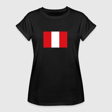 National Flag Of Peru - Women's Oversize T-Shirt