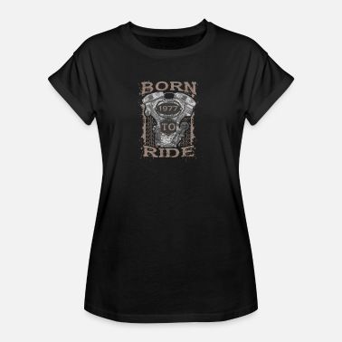 1977 Born to Motorcycle Ride en 1977 - T-shirt oversize Femme