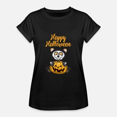 Bär Skelett Happy Halloween Bär Kürbis - Frauen Oversize T-Shirt