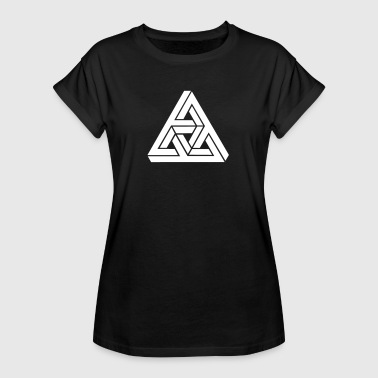 Impossible Triangle Optical Optical Illusion, Impossible Triangle, mathematics - Women's Oversize T-Shirt