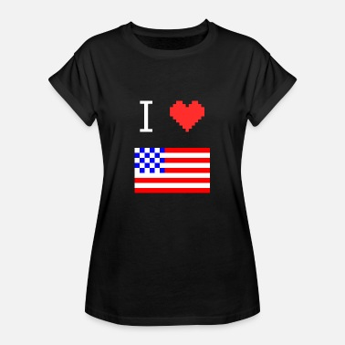 I Love My I Love My Country - Frauen Oversize T-Shirt