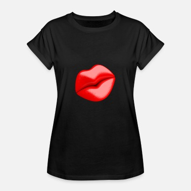 Rote Lippen Liebe Rote Lippen - Frauen Oversize T-Shirt