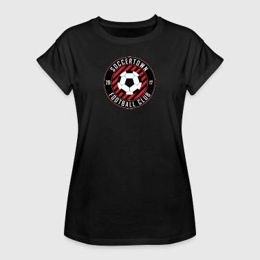 Soccertown Football Club - Oversize T-skjorte for kvinner