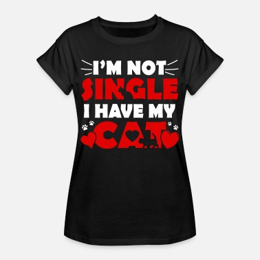 Valentines Day Shirts I'm not Signle I have a Cat - T-shirt oversize Femme