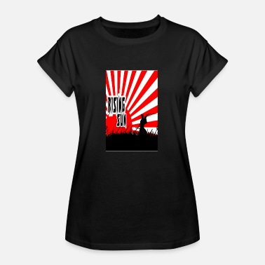 Japanese Samurai Sunrise Japanese Katana Early - Women's Oversize T-Shirt