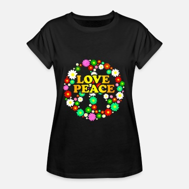 Hippie 60s Hippie Flower Power Peace and Love 60s - Women's Oversize T-Shirt