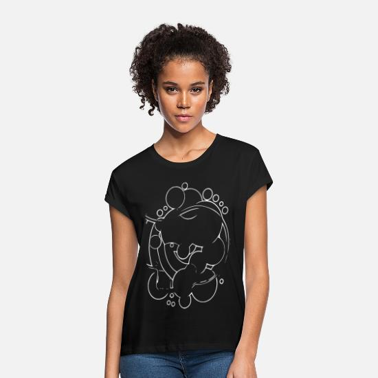 New T-Shirts - Trend abstract - Women's Loose Fit T-Shirt black
