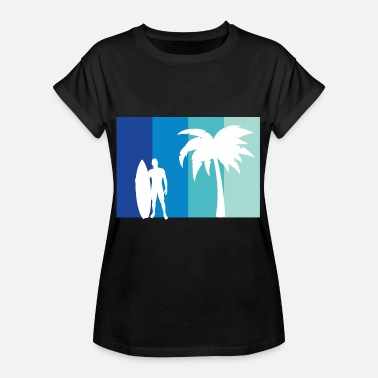 Vacationer Surfer with palm vacationer - Women's Oversize T-Shirt