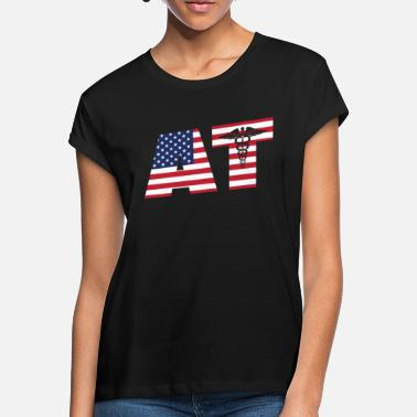 AT Athletic Trainer Fitness Gift America Gym - Women's Loose Fit T-Shirt