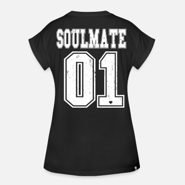 Couple Bff Soulmate Soulsister Soulbrother BFF couple friend - Women's Oversize T-Shirt