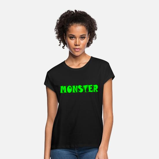 Gift T-Shirts - monster - Frauen Oversize T-Shirt Schwarz