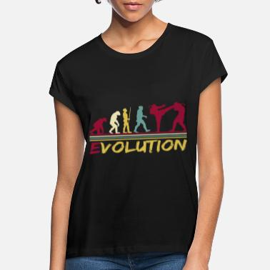 Streifen Muay Thai Boxing Thaiboxen Evolution Retro - Frauen Oversize T-Shirt