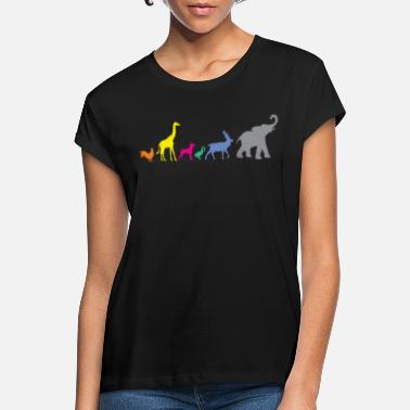 Colour ANIMAL COLOURFUL - Women's Loose Fit T-Shirt