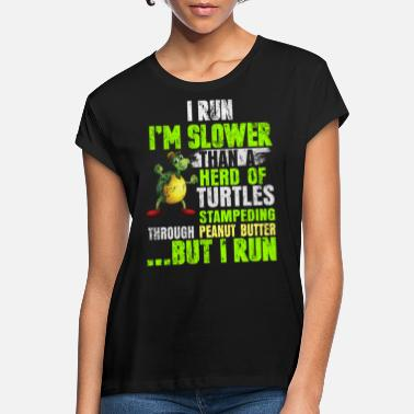 Läuger Running turtle jogging race saying gift - Women's Loose Fit T-Shirt