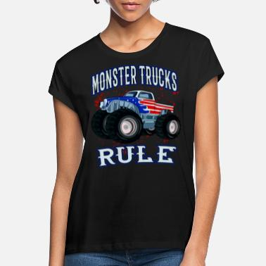 Monster Truck Monster Trucks Rule Pick-Up Monster Truck Cars - Women's Loose Fit T-Shirt