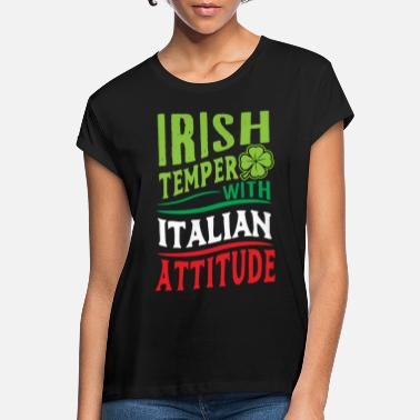 Italian Italy country boots holiday pizza spaghetti flag - Women's Loose Fit T-Shirt